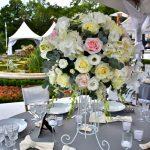 украса за маса бяло и розово